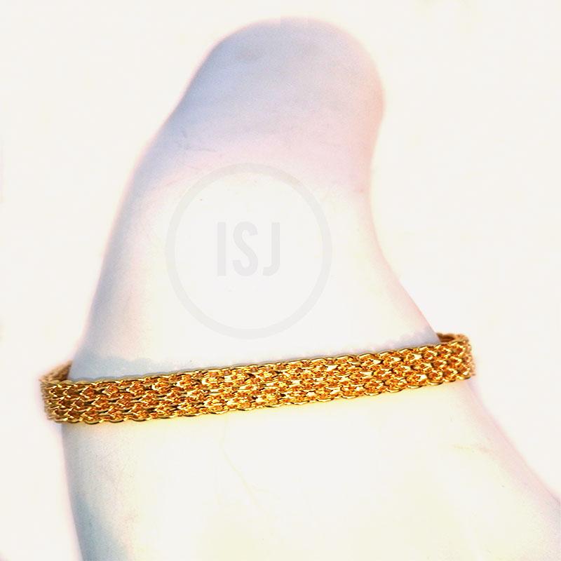 Classy Link Style Gold Plated Bracelet For Men