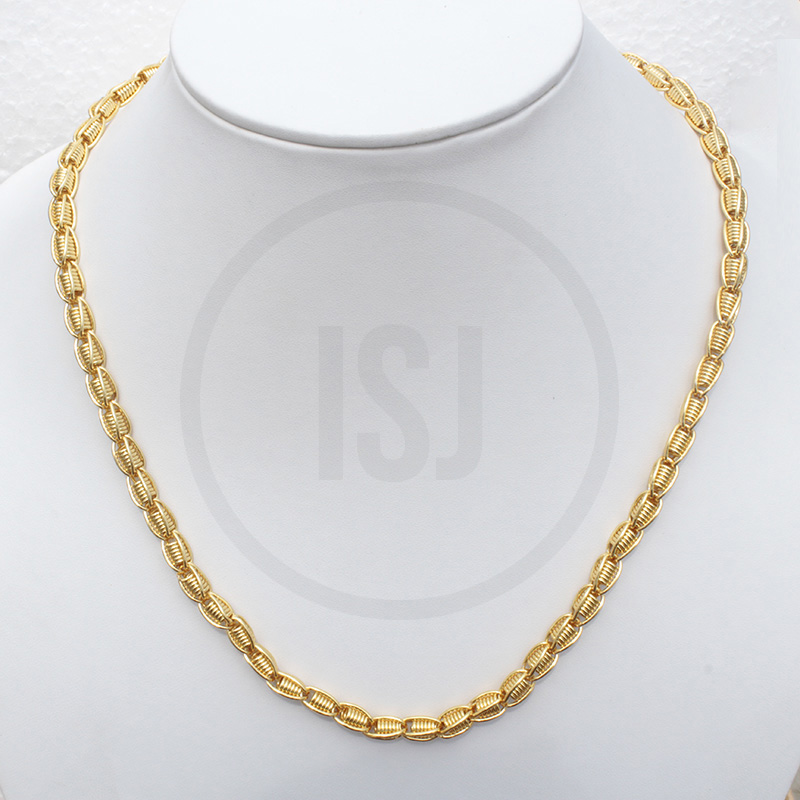 Splendid Handmade Gold Plated Link Chain For Men