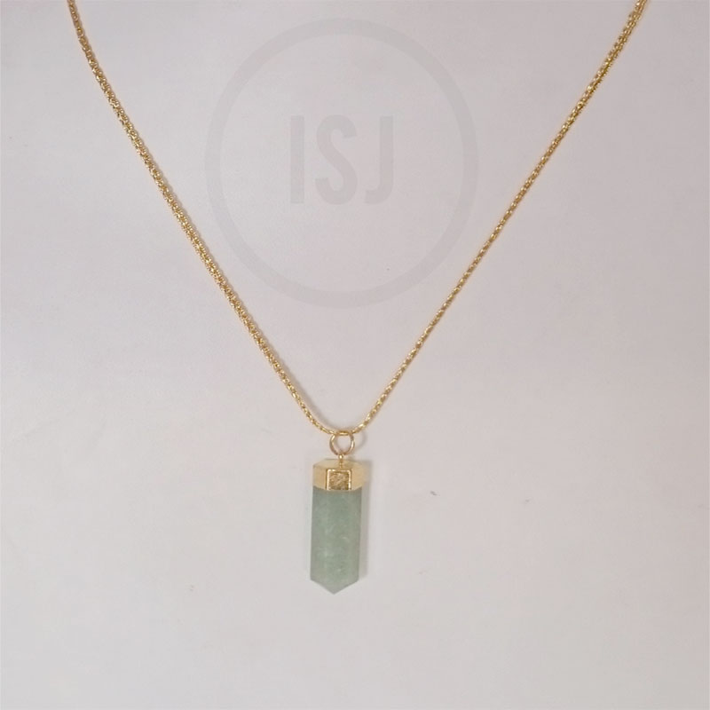 Crystal Bullet Natural Pendant For Women Without Chain