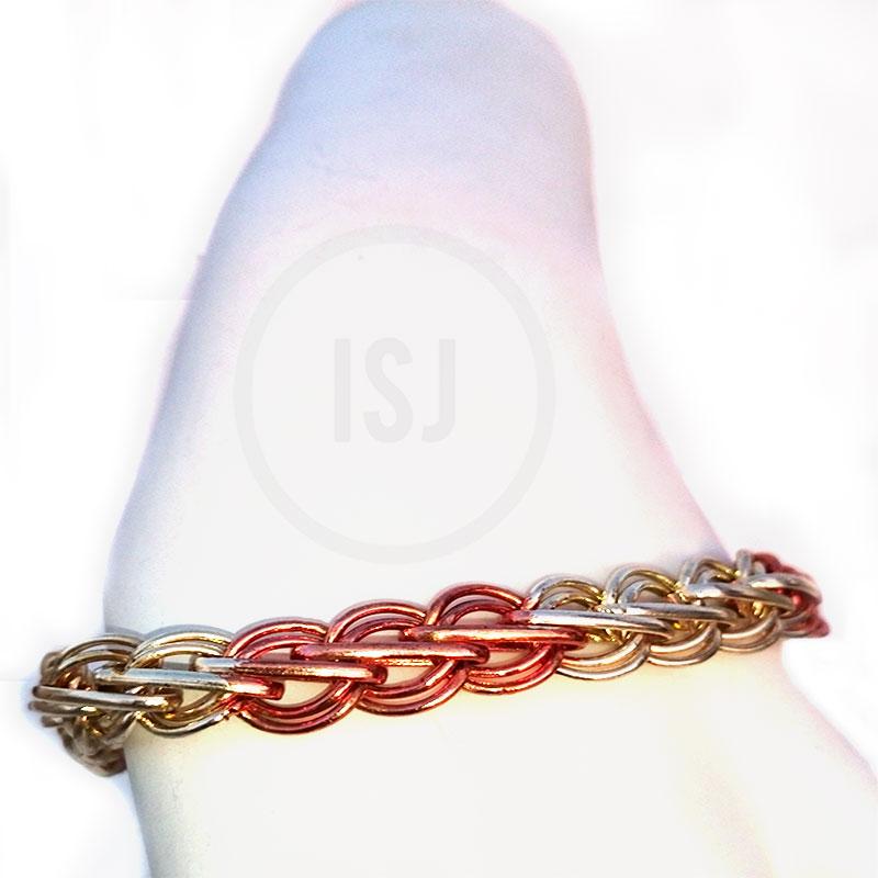 Dual Plated Link Style Bracelet For Men