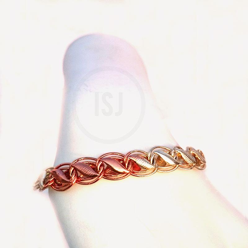 Stylish Link Dual Plated Designer Bracelet For Men