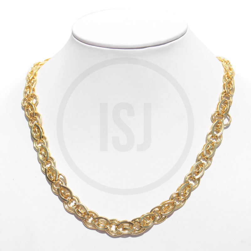Classic Dual Layer Gold Plated Link Chain For Men