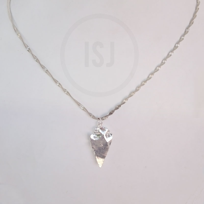 Shiny Silver Plated  Pendant for Women Without Chain