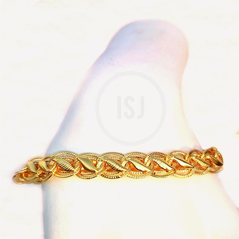 Stylish Link Gold Plated Designer Bracelet For Men