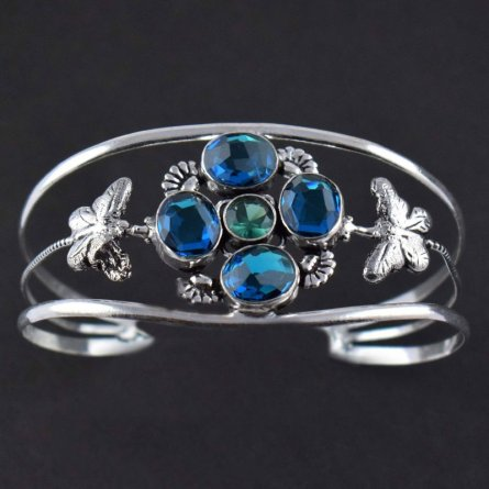 Lovely Apatite Hydro Brass Antique Finish Adjustable Women's Cuff Bracelet