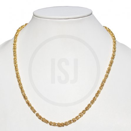 Men's Designer Yellow Gold Plated Link Chain