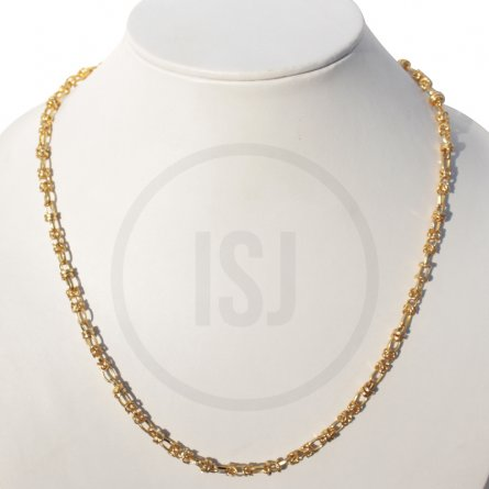 Twisted Link Chain With Gold Plating for Men