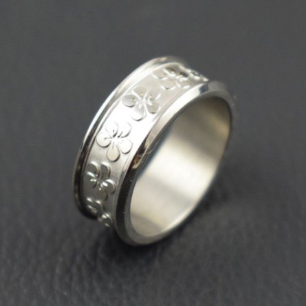 NEW FASHION STAINLESS STEEL RING BAND TITANIUM SILVER MEN RING JEWELRY SIZE 8