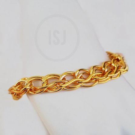 Fashionable Gold Plated Link Bracelet For Men