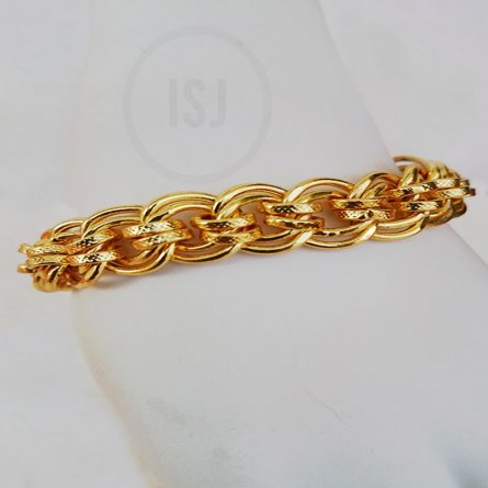 Yellow Gold Plated Link Designer Bracelet For Men
