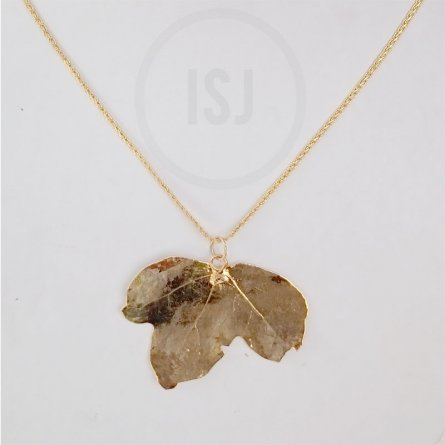 Gold plated leaf Pendant For Women Without Chain