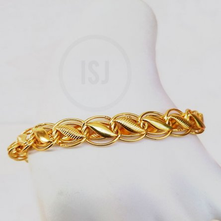 Classic Statement Gold Plated Link Bracelet For Men