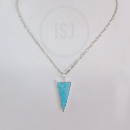 Stylish Silver Plated Triangle Pendant for Women Without Chain