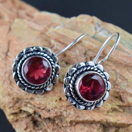 Pink Amethyst Gemstone Delicate Design Statement Earring Buy One Get One Free