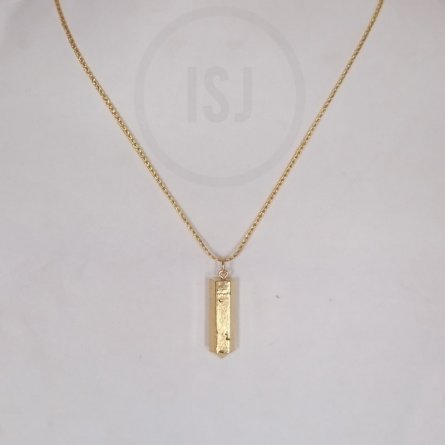 Crystal bullet Gold Plated Pendant For Women Without Chain
