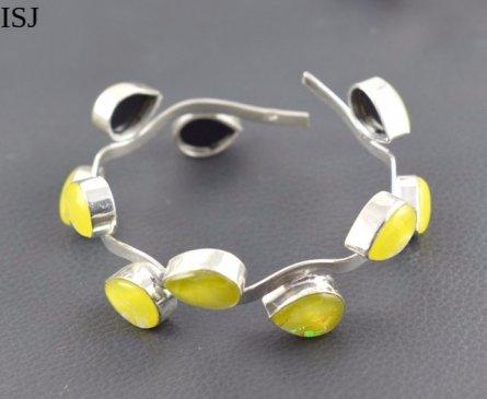 Australian Triplet Opal Bracelet, 925 Silver Plated Designer Bangles Cuff Jewellery, Cuff Bracelets,