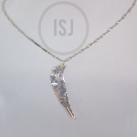 Shiny Silver Plated Leaf Pendant For women Without Chains