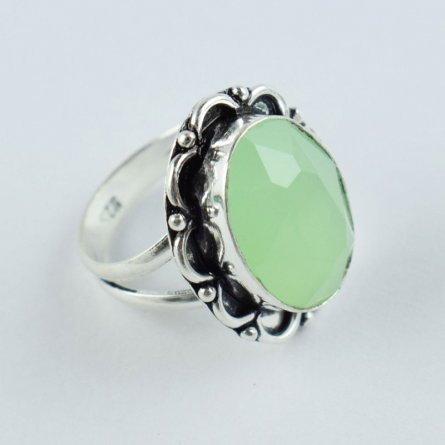 BEAUTIFUL DESIGN CHRYSOPRASE HYDRO GEMSTONE ANTIQUE FINISH STATEMENT