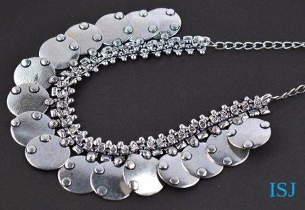 1 Pc Vintage Style Antique Finish Necklace Women Jewelry, Bohemian Antique Silver Necklace 20