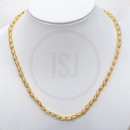 Splendid Handmade Gold Plated Link Chain For Men