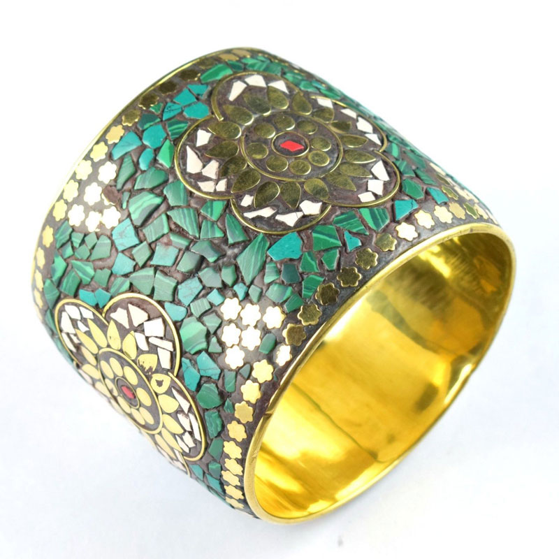 Tibetan Bangle Boho Jewelry Gypsy Statement Vintage Inspired Tribal Bracelet