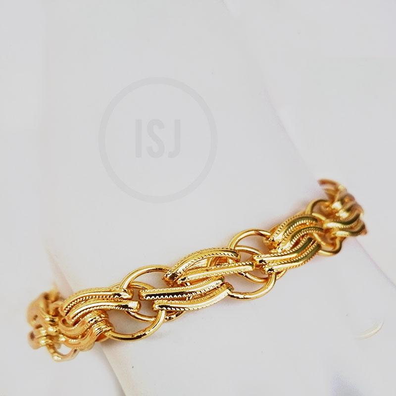 Gold Plated Classy Bracelet  For Men