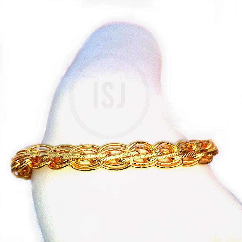 Elegant Gold Plated Stunning Link Bracelet For Men