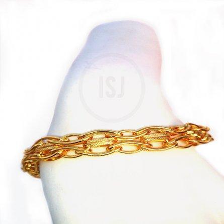 Gold Plated Stunning Link Bracelet For Men
