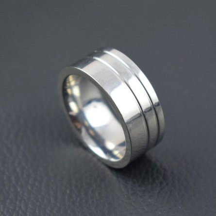 NEW STYLE STAINLESS STEEL RING BAND  TITANIUM SILVER MEN RING  JEWELRY