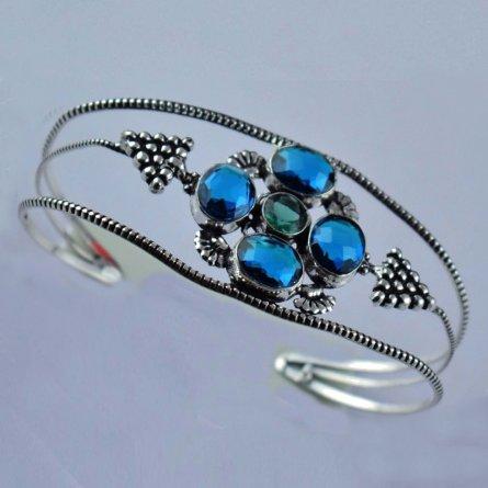 New Design Apatite Hydro Brass Antique Finish Adjustable Women's Cuff Bracelet