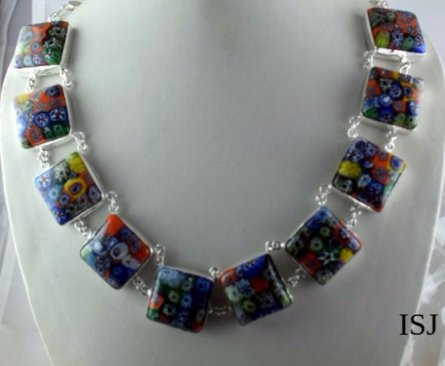 Multi Colour Hydro Brass Necklace 925 Silver Plated Gemstone,Woman Necklace,Birthday Gifts,Necklaces