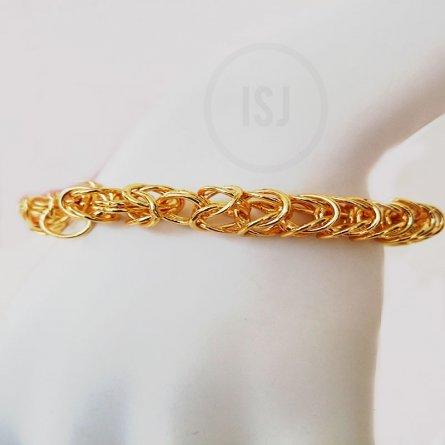 Stupendous Linking Gold Plated Bracelet For Men